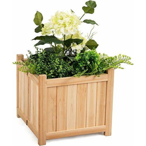 COSTWAY Blumenkasten Hochbeet Holz, Blumenbeet Blumentopf klappbar,