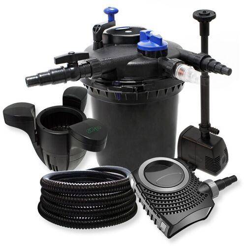 Wiltec - Druckfilter Set: 30000l Filter, 18W UVC Klärer, 70W Pumpe ,