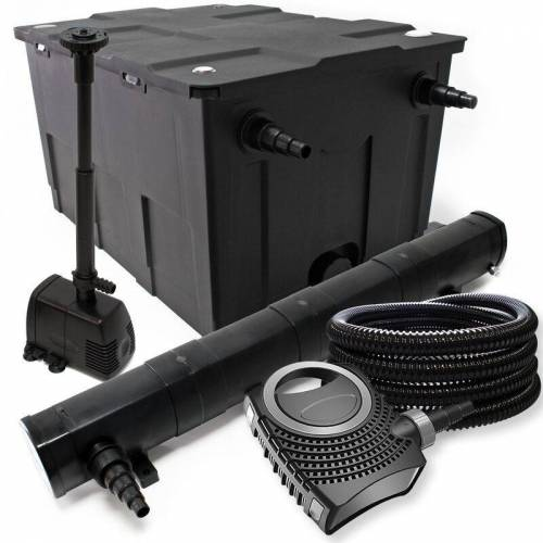 Wiltec - Filter Set aus Bio Teichfilter 60000l, 72W UVC Klärer, Pumpe,
