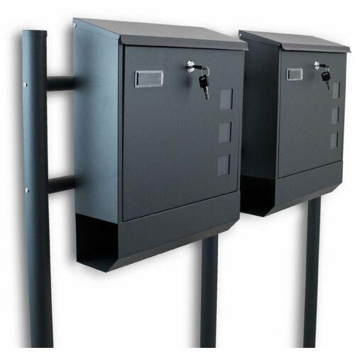 BITUXX Freistehender Doppelstandbriefkasten Briefkastenanlage Briefkasten mit
