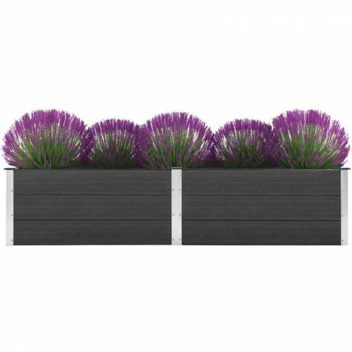 Zqyrlar - Garten-Hochbeet 250 x 50 x 54 cm WPC Grau