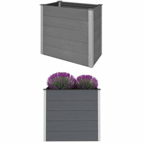Zqyrlar - Garten-Hochbeet WPC 100 x 50 x 91 cm Grau