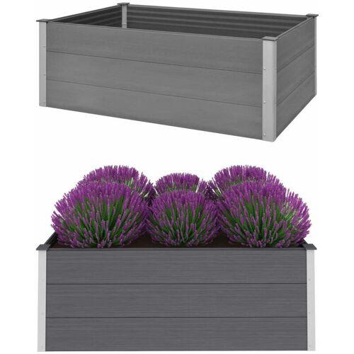 Zqyrlar - Garten-Hochbeet WPC 150 x 100 x 54 cm Grau