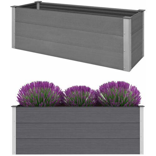 Zqyrlar - Garten-Hochbeet WPC 150 x 50 x 54 cm Grau
