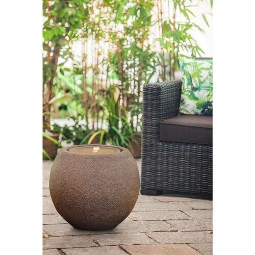 HEISSNER Gartenbrunnen Ball Terrakotta LED - Heissner
