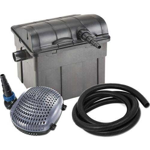 JEBAO Kit Teichfilter UBF 9000, UV-C 11 W, Pumpe XOE 3500 14 Watt, 5m