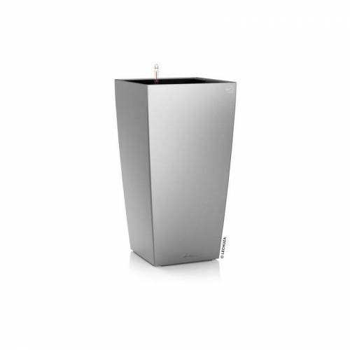LECHUZA CUBICO 22, All-in-One, Silber metallic - Lechuza