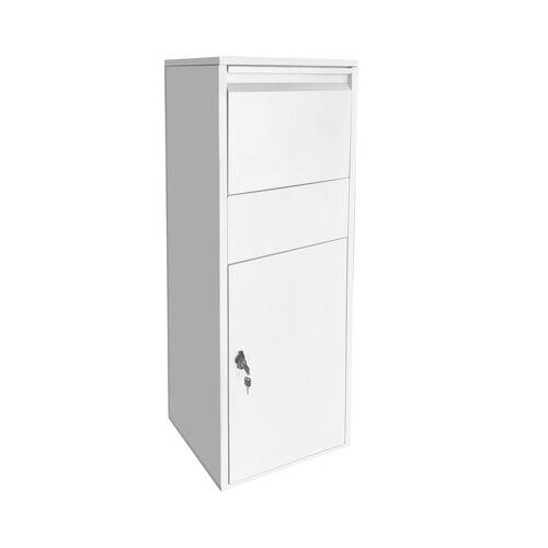 Wiltec - Paketbox Standbriefkasten weiß Paketannahme für Zuhause