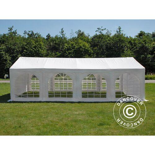 DANCOVER Partyzelt Pavillon Festzelt Original 4x8m PVC, Weiß - Dancover