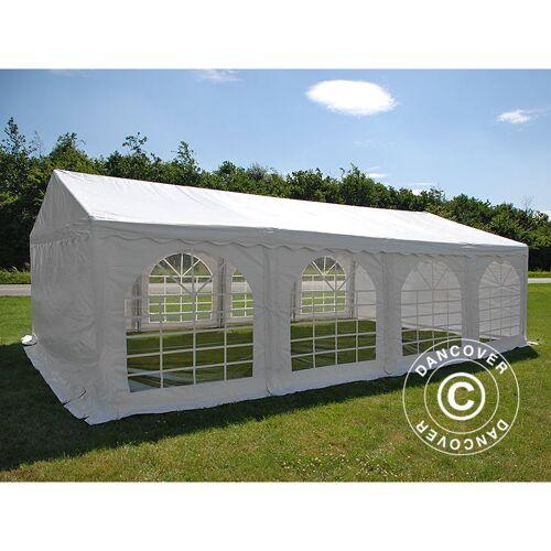 DANCOVER Partyzelt Pavillon Festzelt Dancover Original 5x8m PVC, Weiß