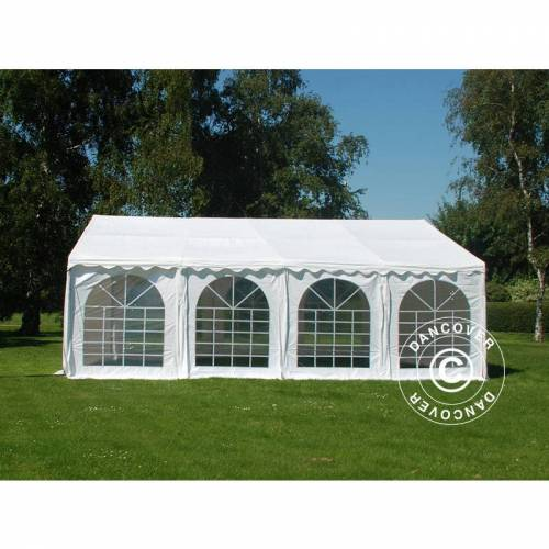 DANCOVER Partyzelt Pavillon Festzelt SEMI PRO Plus 5x8m PVC, Weiß - Dancover