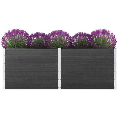 VIDAXL Garten-Hochbeet 250 x 100 x 91 cm WPC Grau