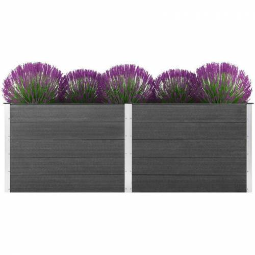 Vidaxl - Garten-Hochbeet 250 x 50 x 91 cm WPC Grau