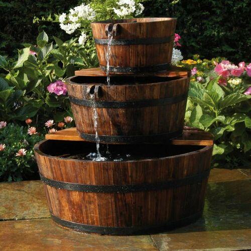 Zqyrlar - Ubbink Garten Wasserfall Brunnen Holzfaß Set 3 Fässer