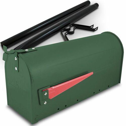 BITUXX US Mailbox Amerikanischer Briefkasten Grün Standbriefkasten mit