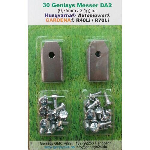 GENISYS 30+3 rostfreie Messer 0,75 Automower Husqvarna G1 210 220AC 230ACX
