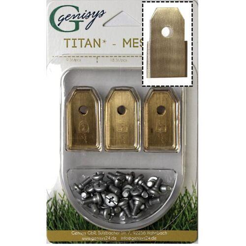 Genisys - 30x TITAN Ersatz Messer Klingen kompatibel für Gardena ®