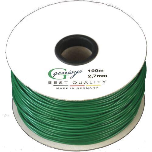GENISYS Begrenzungskabel Kabel 100m Begrenzungs Draht Ø2,7mm - HQ - auf der