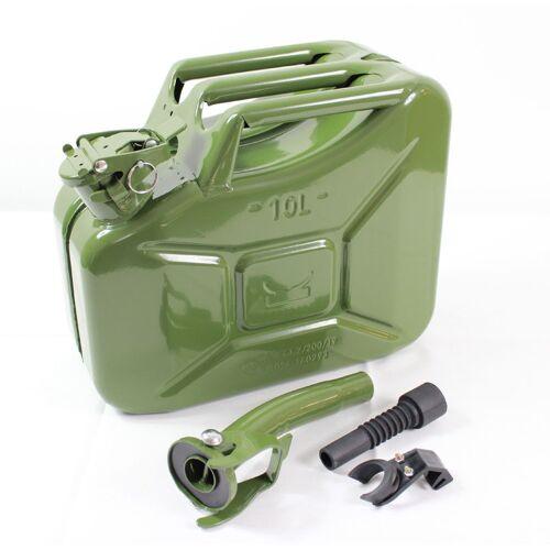 TRUTZHOLM® Trutzholm ® - 1x Benzinkanister Kraftstoffkanister Metall 10 Liter Oliv