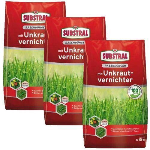 CELAFLOR-SUBSTRAL 3c Substral Rasen-Dünger mit Unkrautvernichter 9 kg