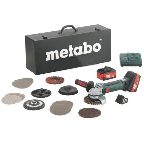 METABO Akku-Winkelschleifer W 18 LTX 125 QUICK INOX Set + Koffer + 2x