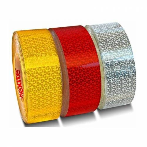 Select Retroreflektierendes rotes Klebeband 50 m (alle 50 Meter)