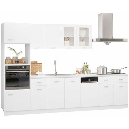VIDAXL 7-tlg. Küchenzeile Spanplatte Weiß