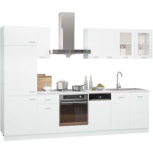 VIDAXL 8-tlg. Küchenzeile Spanplatte Weiß