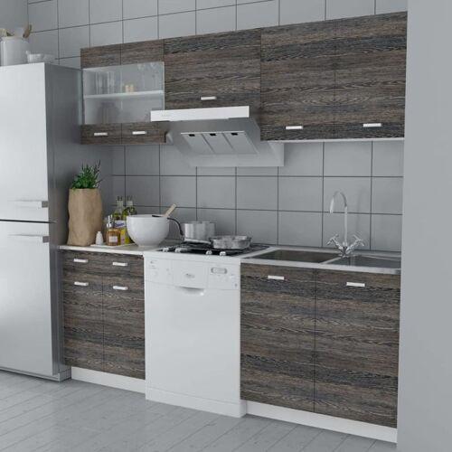 Hommoo Küchenzeile 5-tlg. Wenge-Look VD08732