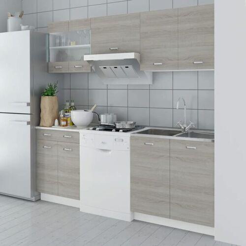 Zqyrlar - Küchenzeile 5-tlg. Eichen-Look 200 cm