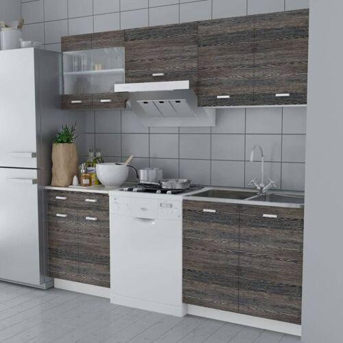 Zqyrlar - Küchenzeile 5-tlg. Wenge-Look