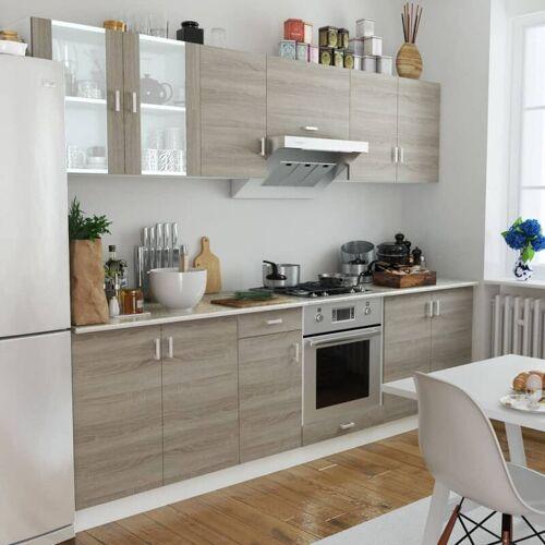 YOUTHUP Küchenzeile 8-tlg. Eichen-Look