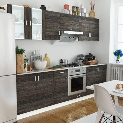 ZQYRLAR Küchenzeile 8-tlg. Wenge-Look