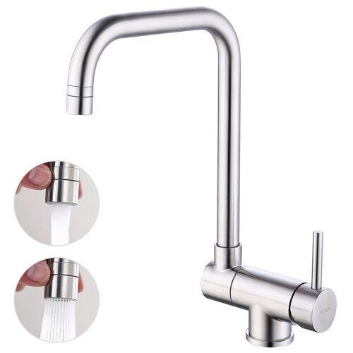 HOMELODY Wasserhahn Küche 360° Schwenkbar Küchenarmatur Vorfenster Armatur für