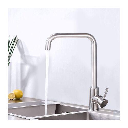 HOMELODY Küchenarmatur 360° drehbar Wasserhahn Küche Edelstahl Spültischarmatur