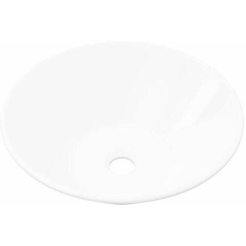 Vidaxl - Keramik Waschtisch Waschbecken Becken Porzellan Weiß