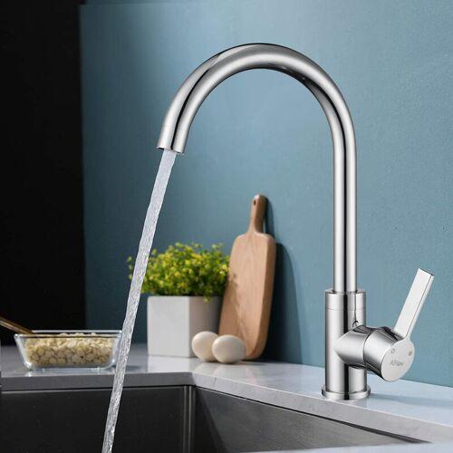 AIHOM Küchenarmatur chrom Wasserhahn Küche Armatur aus Messing