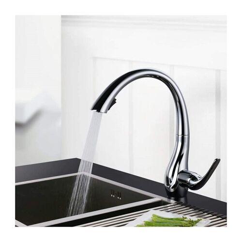 HOMELODY Küchenarmatur ausziehbar 360 ° drehbar 2 Strahlarten