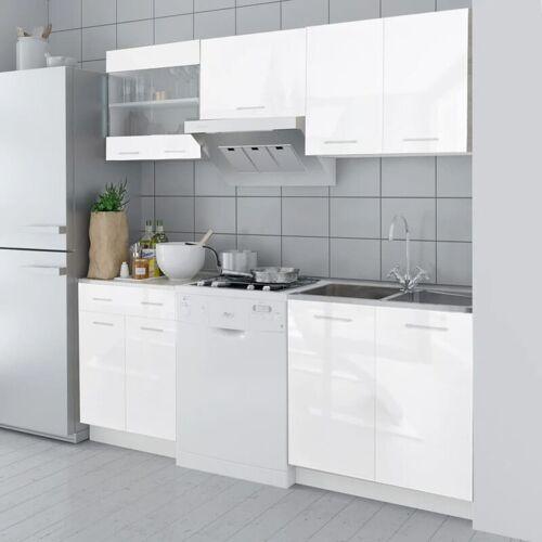 Zqyrlar - Küchenzeile 5-tlg. Hochglanz Weiß 200 cm