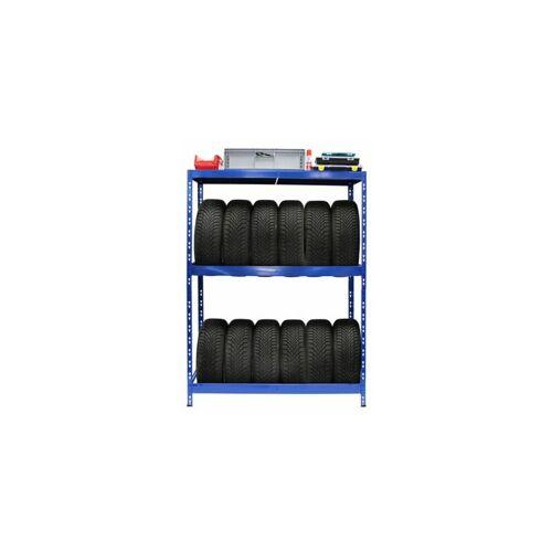 Certeo - Reifenregal   HxBxT 180 x 130 x 50 cm   Für bis zu 12 Reifen
