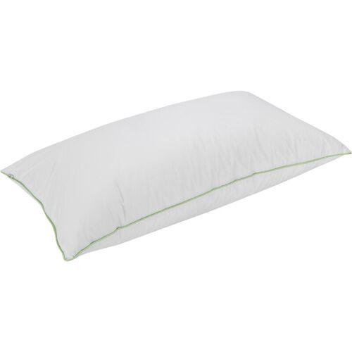 PIKOLIN HOME Kissen aus 70 % Daunen mit Anti-Milben-Baumwollbezug Kissen 90 Wei?