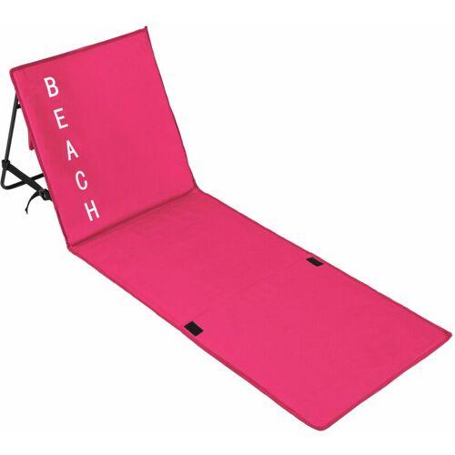 TECTAKE Strandmatte mit verstellbarer Lehne - Strandmatte mit Lehne,