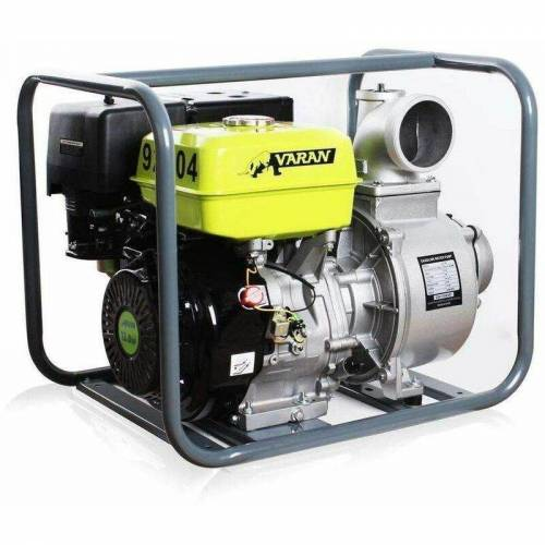 VARAN MOTORS 92704 Benzinwasserpumpe 4'' 90m³/h 13PS Benzinmotorpumpe - Grau - Varan
