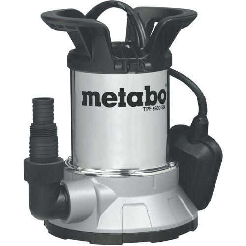 Metabo Tauchpumpe 450 W Brunnenpumpe 6600 l/h, Gartenpumpe max. 0,6 bar
