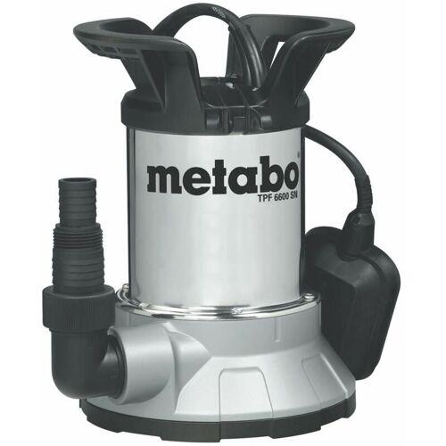 Metabo - Flachsaugende Klarwasser-Tauchpumpe TPF 6600 SN