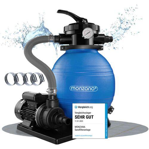 DEUBA Sandfilter Sandfilteranlage 10 m³/h - Poolfilter Filteranlage