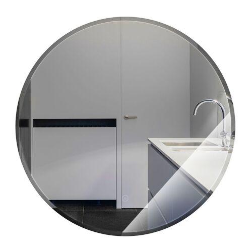 Wyctin - Anti-Fog Rund Badspiegel Wandspiegel Badspiegel Warmweiß Kante