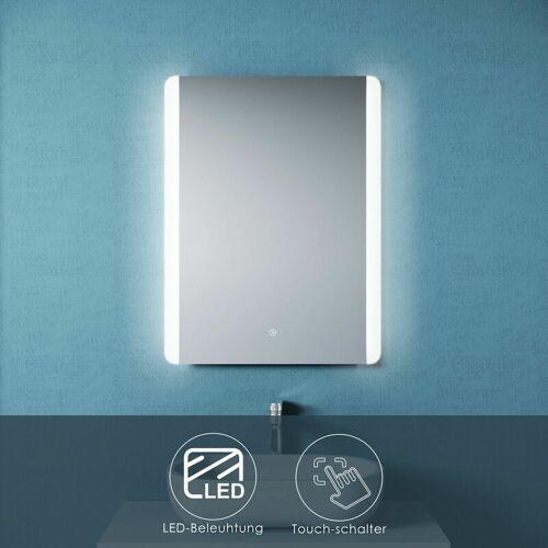 SONNI Badspiegel LED 60x80 mit Beleuchtung Touch Wandspiegel