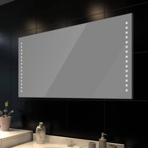 VIDAXL Badspiegel mit LED-Leuchten 100×60 cm