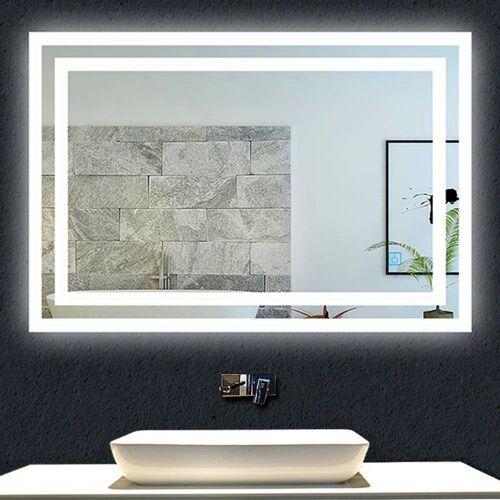Aica LED Badspiegel 60x50 cm TOUCH-Schalter Kaltweiß
